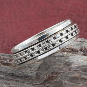 Jewelry - Artisan Crafted Sterling Silver Spinner Ring